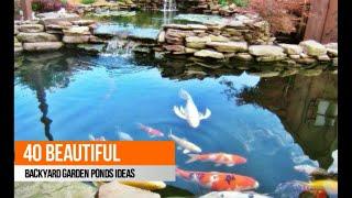 Download 40 Beautiful Backyard Garden Ponds Ideas Video