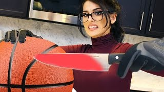 Download EXPERIMENT Glowing 1000 degree HOT KNIFE VS BASKETBALL Video