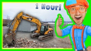 Download Excavators for Children with Blippi | 1 Hour Long Children's Show! Video