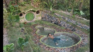 Download Building A Beautiful Swimming Pool & Secret House Underground Using Bamboo Video