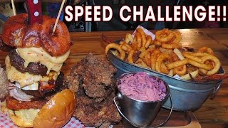 Download Pattersons' Fried Chicken and Cheeseburger Challenge!! Video