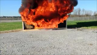 Download Christmas Tree Fire Demonstration - Camera Angle 1 Video
