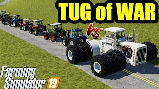 Download Farming Simulator 19 : TUG OF WAR !1! BIG BUD vs ALL MINI TRACTORS Video