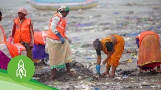 Download The Man Clearing 9,000 Tons of Trash From Mumbai's Beaches Video