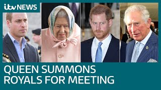 Download Queen summons Charles, William and Harry to Sandringham to resolve crisis   ITV News Video