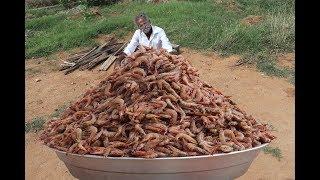 Download Huge PRAWN MASALA Prepared by My DADDY ARUMUGAM / Village food factory Video
