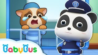 Download Panda Policeman Catches Bad Guy | Super Panda's Mission | Magical Chinese Characters | BabyBus Video