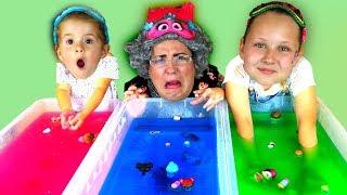 Download GELLI BAFF SLIME CHALLENGE GAME!! Greedy Granny, LOL Dolls & Disney Toys Video