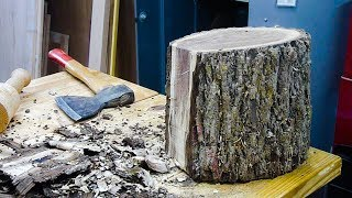 Download Woodturning a Black Walnut Log into a Bowl Video