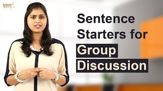 Download Sentence starters for Group Discussion | Group Discussion Tips | TalentSprint Video
