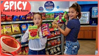 Download SPICY FOOD ONLY FOR 24 HOURS CHALLENGE   LAST TO DRINK WATER WIN   SISTER FOREVER Video
