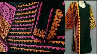 Download Applique Dress Designs 2018; Applic on Black(Part-2) Video