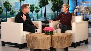 Download James Corden Visits with Ellen Video
