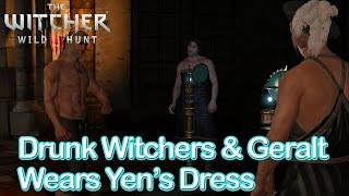 Download The Witcher 3 - Drunk Witchers & Geralt Wears Yennefer's Dress Video