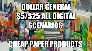 Download DOLLAR GENERAL $5/$25 ALL DIGITAL SCENARIOS | CHEAP PAPER PRODUCTS Video