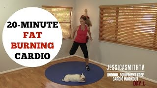 Download 20 Minute Fat Burning Cardio Workout - No Equipment Needed for All Levels! Video