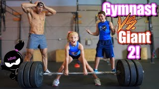 Download Gymnast vs Giant 2! Who is stronger, Payton or the Bodybuilder? Video