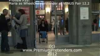 P44 - Wheelchair Amputee Pretending Girl Natascha Free