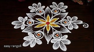 Simple Rangoli Designs Without Dots Simple Kolam Designs Without