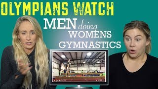 Download Olympic Champions React to MEN DOING WOMENS GYMNASTICS | Funny Video