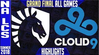 Download TL vs C9 Highlights ALL GAMES | NA LCS Playoffs Final Summer 2018 | Team Liquid vs Cloud9 Video