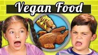 Download KIDS EAT VEGAN FOOD! (Vegan Shrimp, Chicken, Ice Cream)|Kids Vs. Food Video