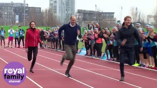 Download Duchess Kate takes on Prince Harry and William in Royal relay Video