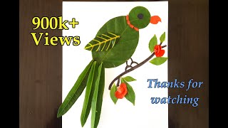 Download Parrot from Leaves-Simple leaf art for kids💚💚💚 Video