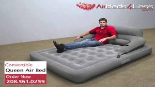 Download Intex Convertible Lounge Queen Camping Air Bed Video