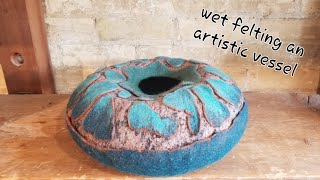 Download Hand felted vessel / sculpture with cutaway resist Video