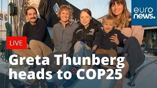 Download Greta Thunberg arrives in Lisbon before travelling to Madrid for #COP25 | LIVE Video