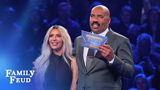 Download Kim & Kanye's INCREDIBLE Fast Money! | Celebrity Family Feud Video