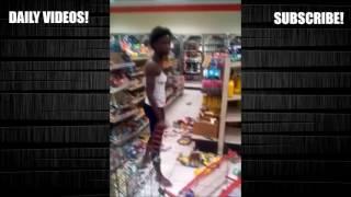 Download i put spongebob music over a crazy lady destroying a gas station Video
