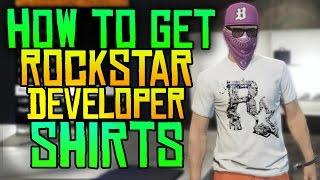 Download GTA 5 Online - How to Get the Rockstar Developer Shirts! (RAREST GTA 5 ITEM) Video
