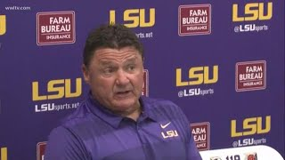 Download LSU v. Auburn: Coach Orgeron reacts after last minute win Video