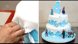 Download How To Make a Frozen Disney Cake by CakesStepbyStep Video