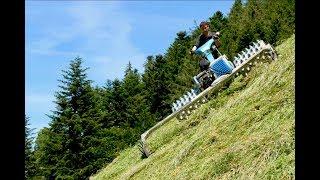 Download Landwirtschaft extrem: Mit dem Brielmaier-Motormäher am Steilhang Video