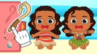 Download BEBÉS ALEX Y LILY Se transforman en Moana y Maui 🌺 Dibujos animados educativos Video