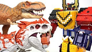 Download Terrible Jurassic dinosaur appeared!! Power Rangers Zyuohger Wild Zyuoh King combine!! - DuDuPopTOY Video