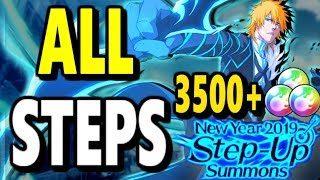 Download Bleach Brave Souls: New Year 2019 Step-up Summons! ALL Steps! Video