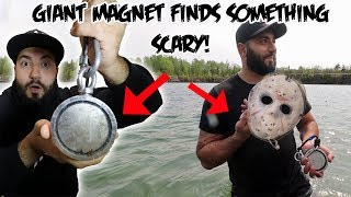 Download I FOUND SOMETHING SCARY WHILE MAGNET FISHING WITH A GIANT MAGNET! Video