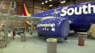 Download Painting our new Southwest Heart Livery Video