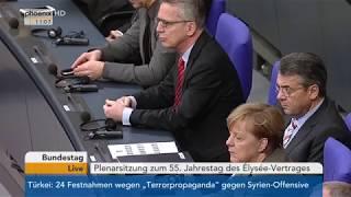 Download 1. Teil der Sitzung des Dt. Bundestages zum 55-jährigen Bestehen des Élysée-Vertrags am 22.01.18 Video