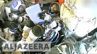 Download China astronauts return from space station after month-long stay Video