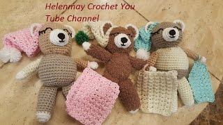 Download Crochet Quick Easy Charity Sleepy Bear Part 1 of 2 DIY Tutorial Video