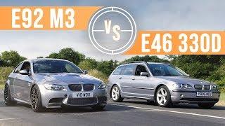 Download Can A BMW E46 330d Keep Up With An E92 M3 On Track? Video