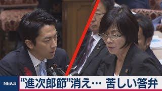 "Download ""進次郎節""消え・・・ 苦しい答弁 Video"