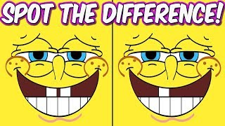Download Photo Puzzles #2 Spongebob Squarepants   Spot the difference Brain Games for Kids   Child Friendly Video