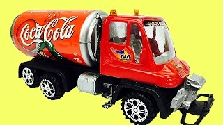 Download Camiones Infantiles ►Camión de Coca Cola y Sprite para Niños Video