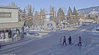 Download Jackson Hole Wyoming USA Town Square Live Cam - SeeJH Video